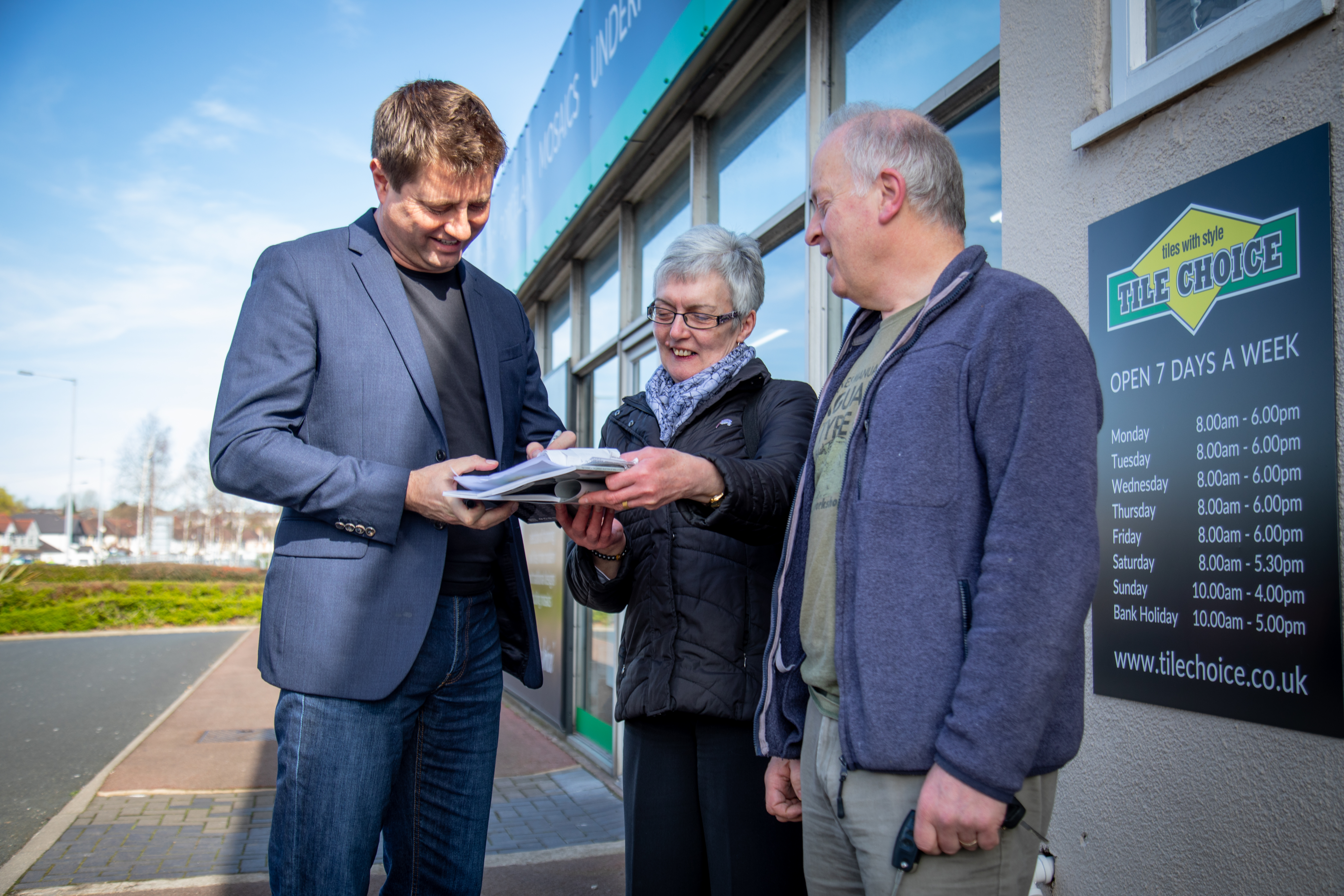 George Clarke Visits Tile Choice Stores